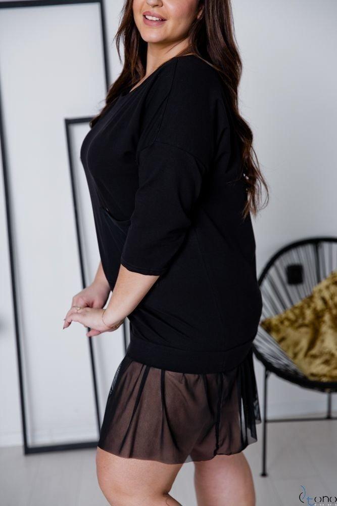 Czarna Sukienka MERIJA Plus Size