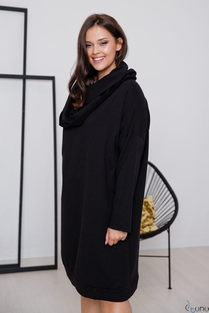 Czarna Sukienka MURADO Plus Size