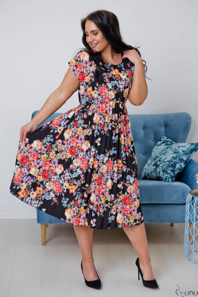 Czarna Sukienka NEGIA Plus Size
