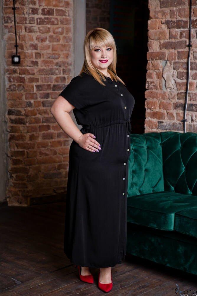 Czarna Sukienka PALO Plus Size