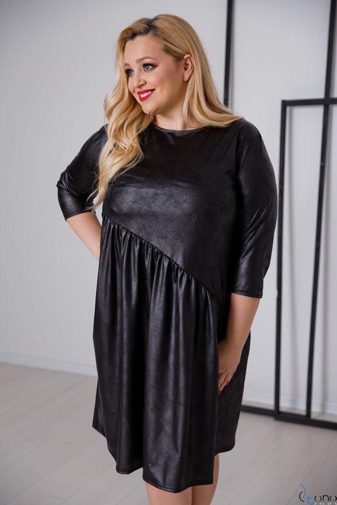 Czarna Sukienka PAMELA Plus Size