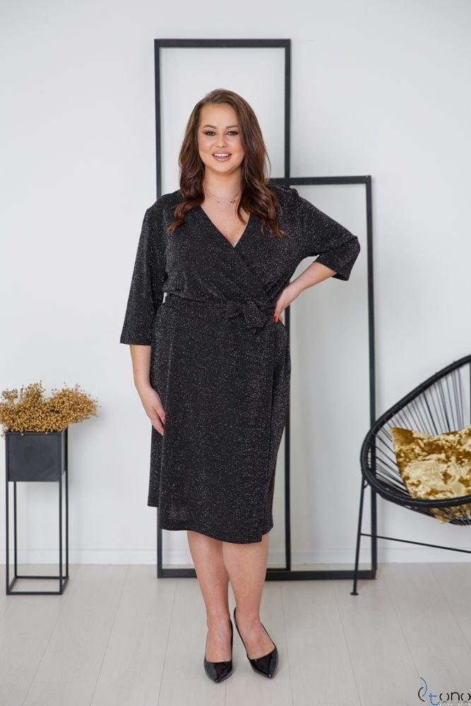 Czarna Sukienka  SOMIER Plus Size