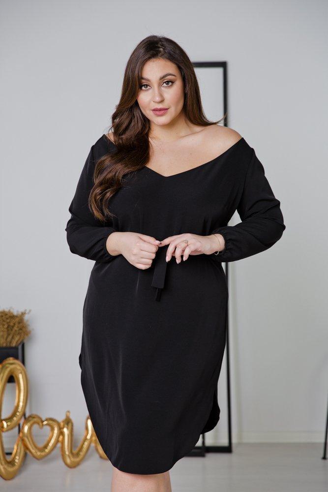 Czarna Sukienka TIANA Plus Size