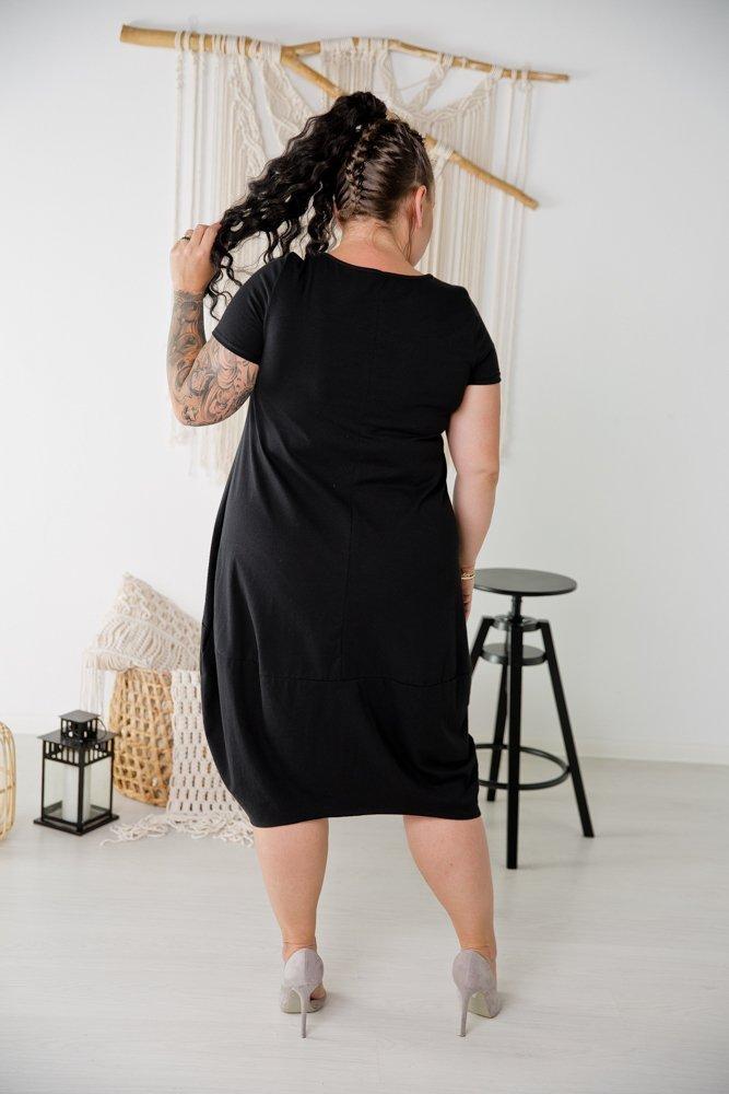 Czarna Tunika SHELLY Plus Size Wzór 6
