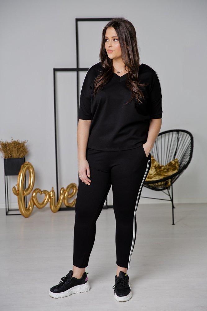 Czarne Spodnie CENIS Plus Size