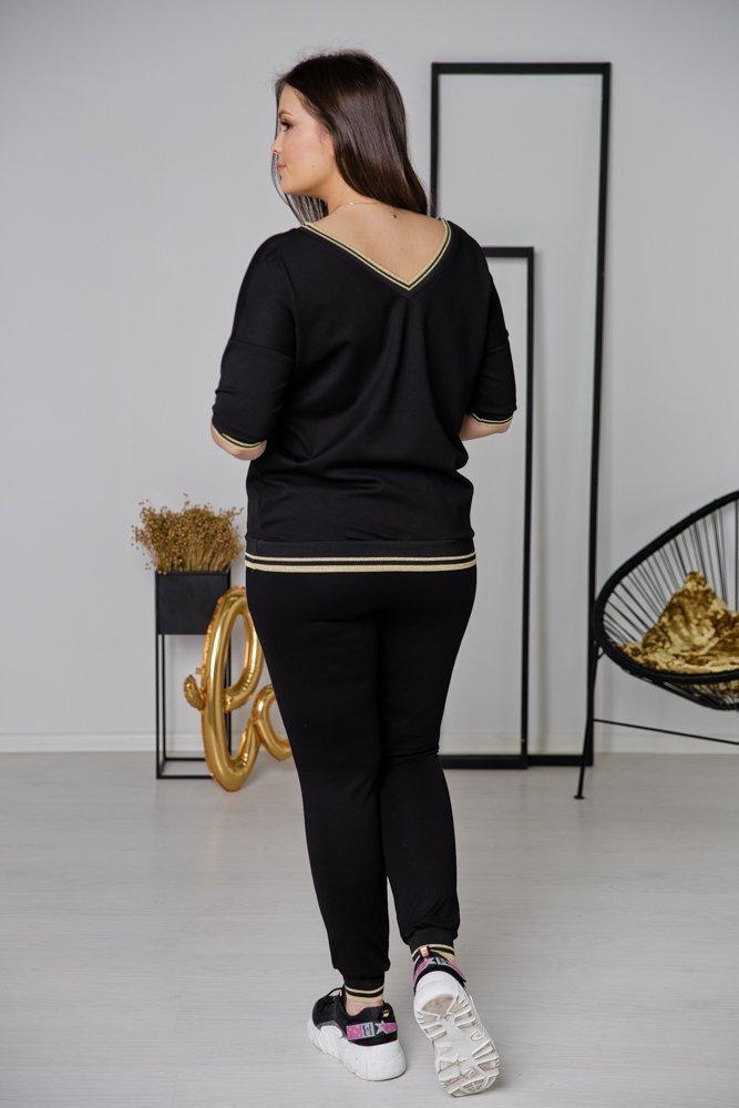 Czarne Spodnie REMY Plus Size