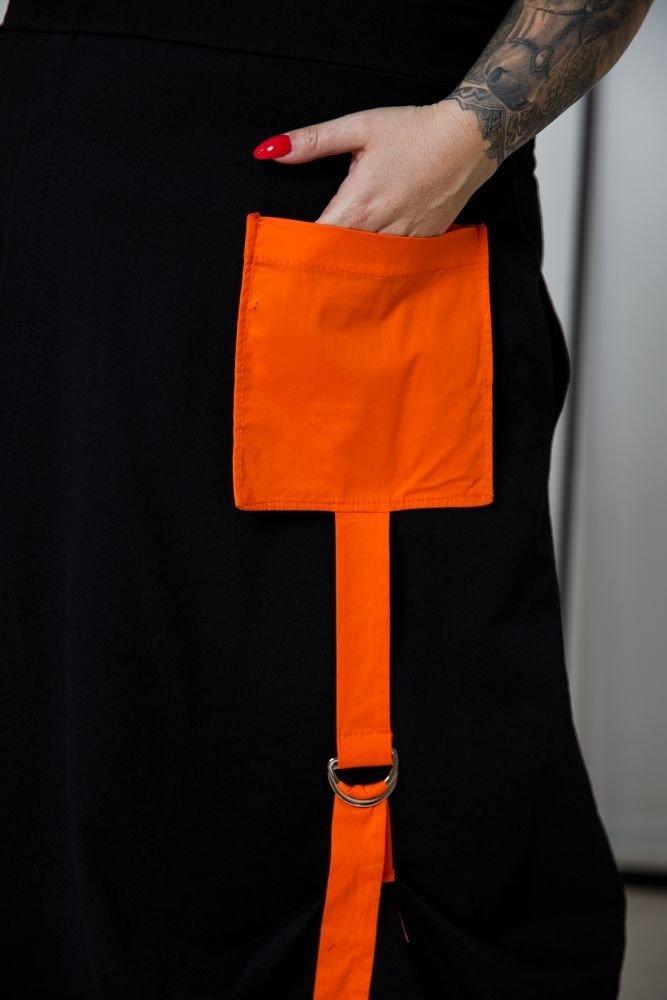 Czarno-pomarańczowa Spódnica FORLA Plus Size
