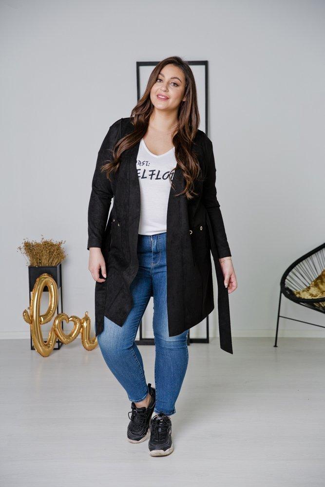 Czarny Płaszcz CLASSY Plus Size