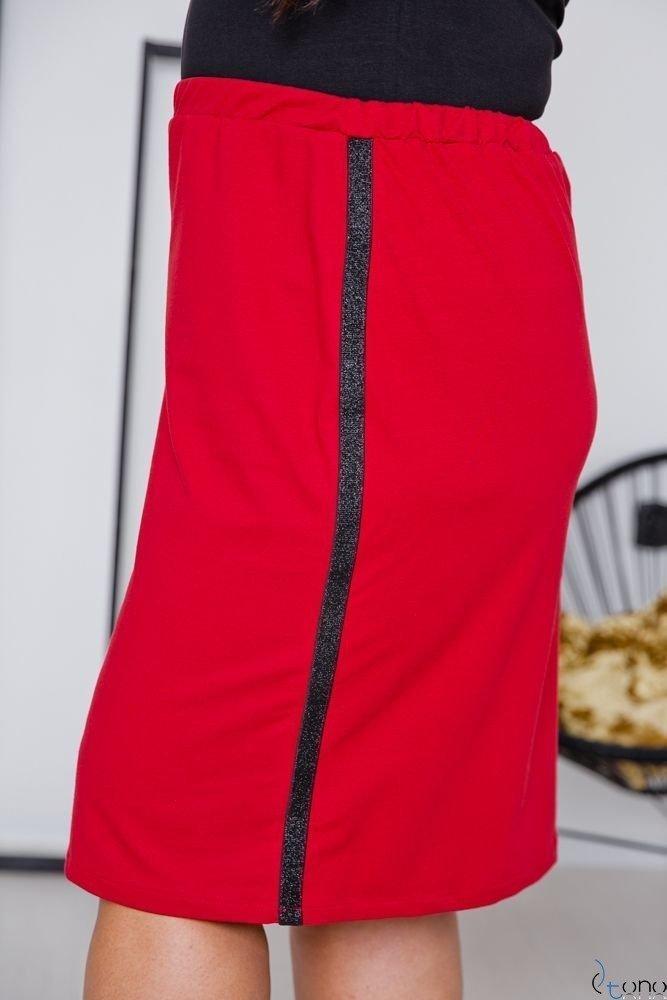 Czerwona Spódnica ADELLA Plus Size