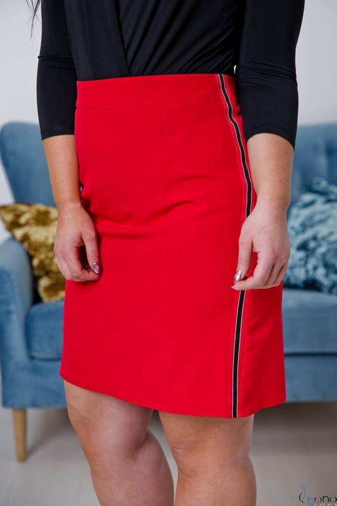Czerwona Spódnica MAGINA Plus Size