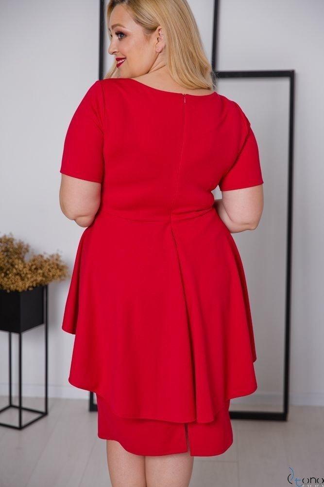 Czerwona Sukienka BASKINA Plus Size