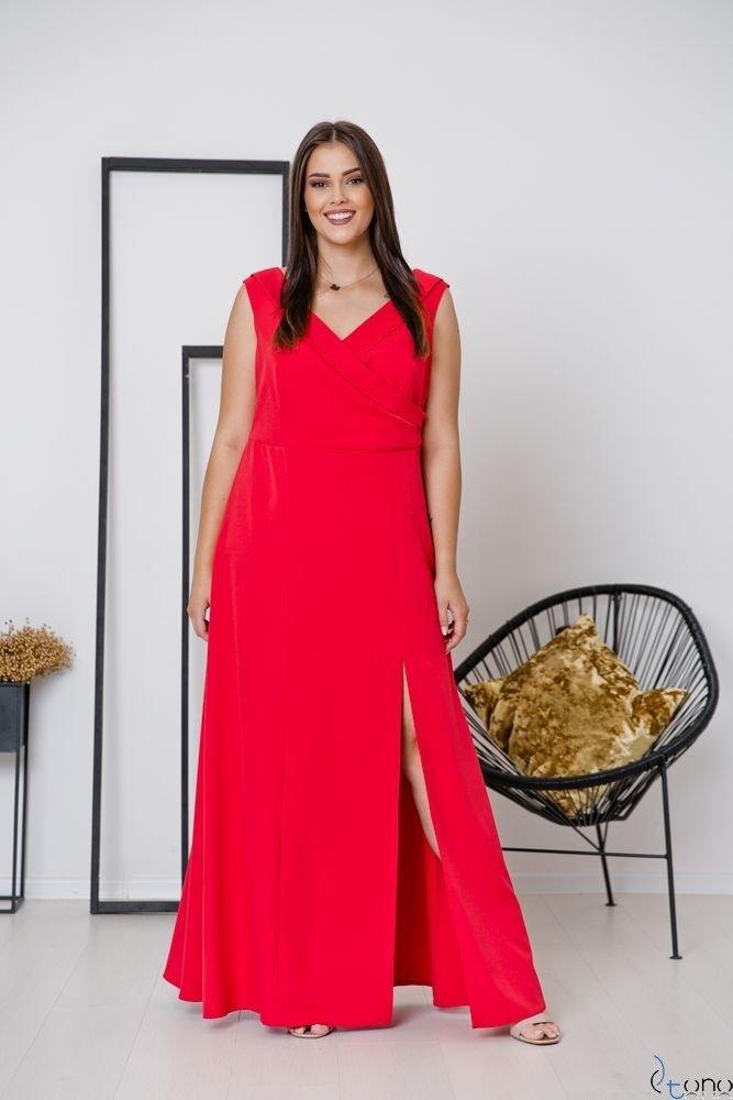 Czerwona Sukienka BEATRIZ Plus Size Maxi