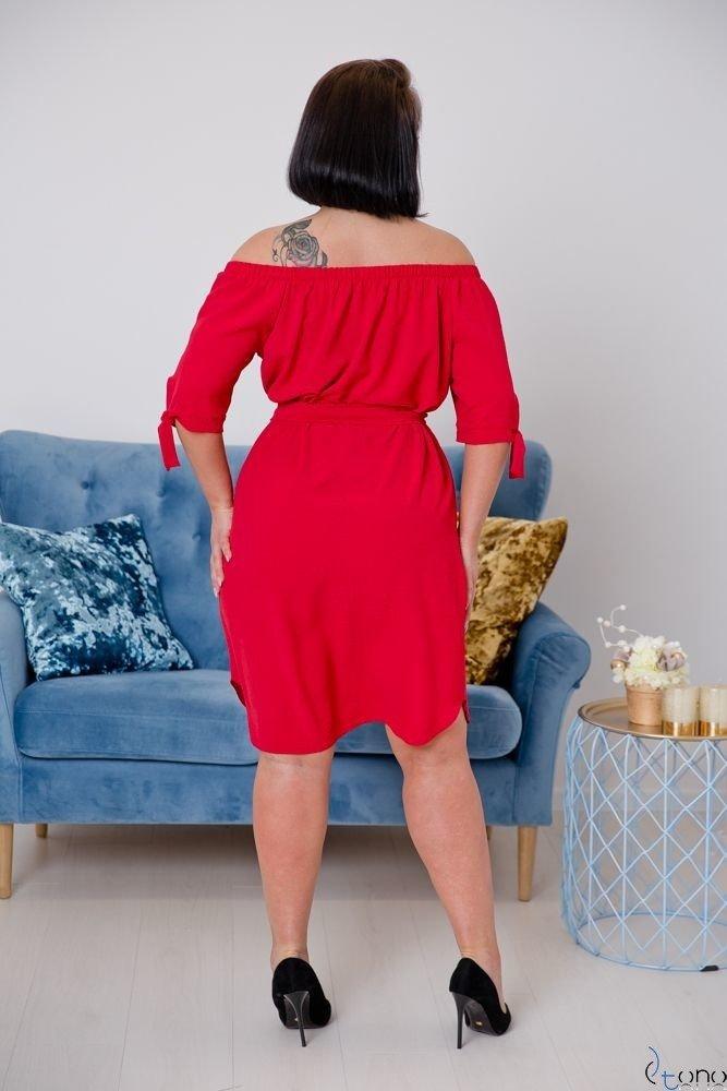 Czerwona Sukienka NEFRITTA Plus Size