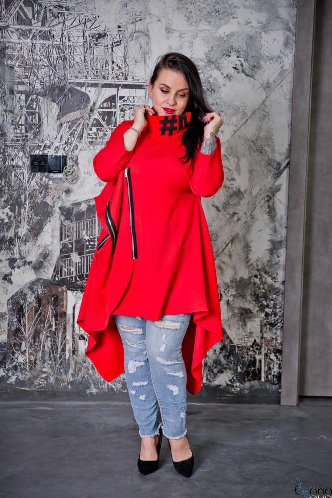 Czerwona Tunika GENTILA Plus Size