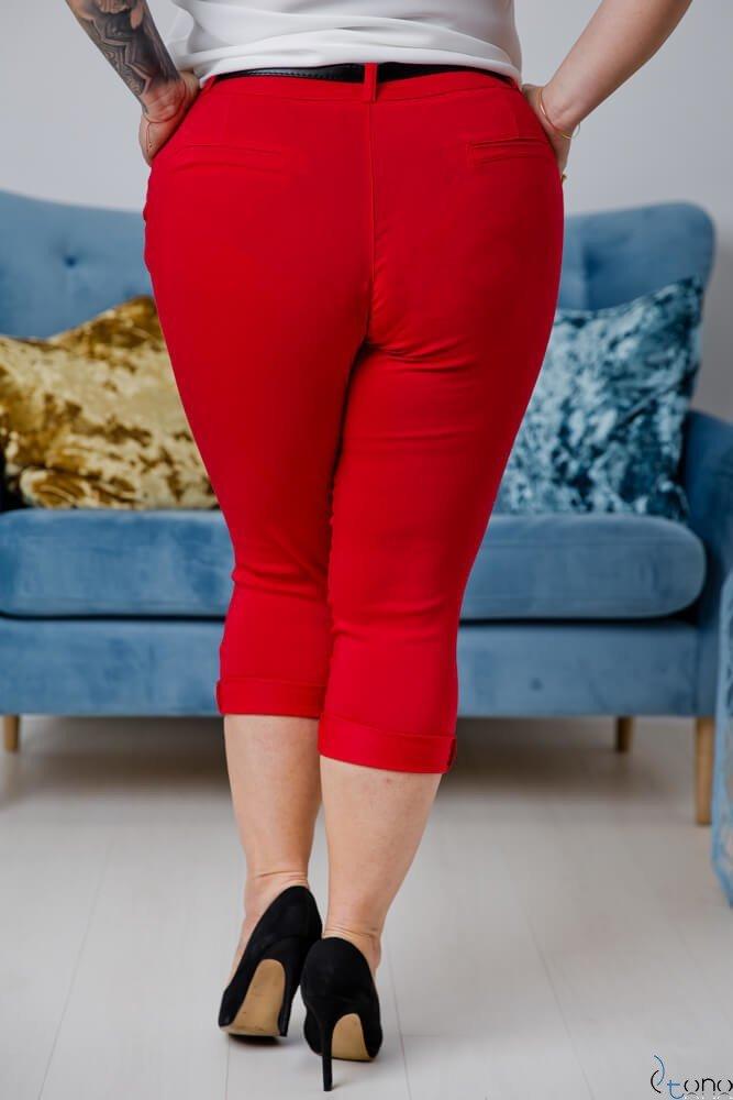 Czerwone Spodnie VOLAR Plus Size