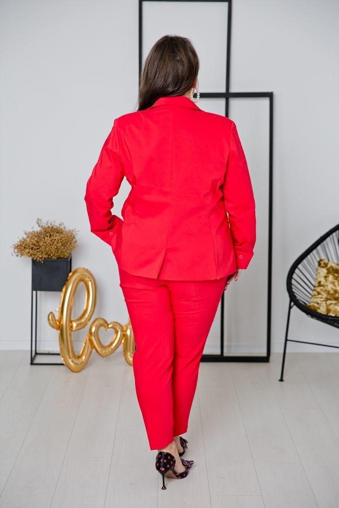 Czerwony Garnitur SPICY Plus Size