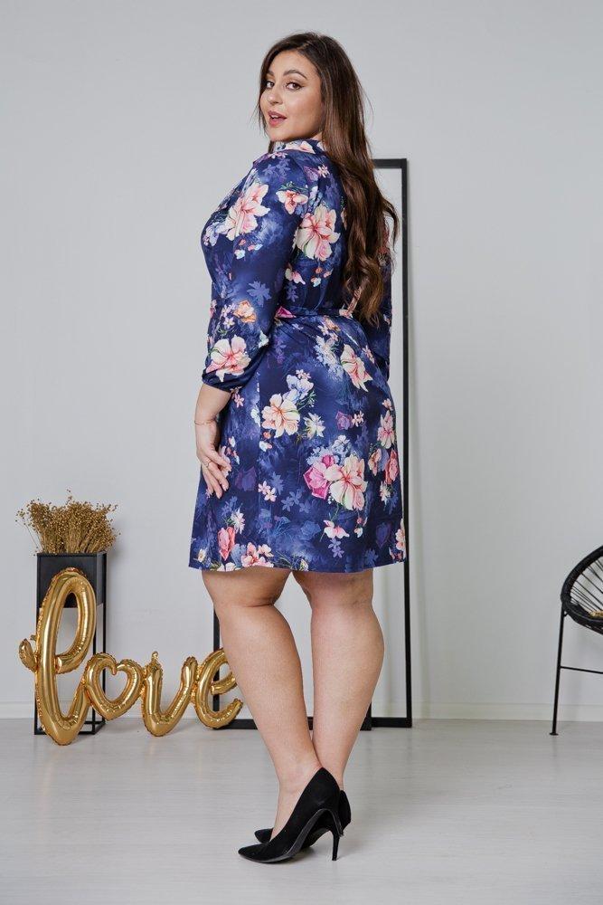 Fioletowa Sukienka DOLAN Plus Size