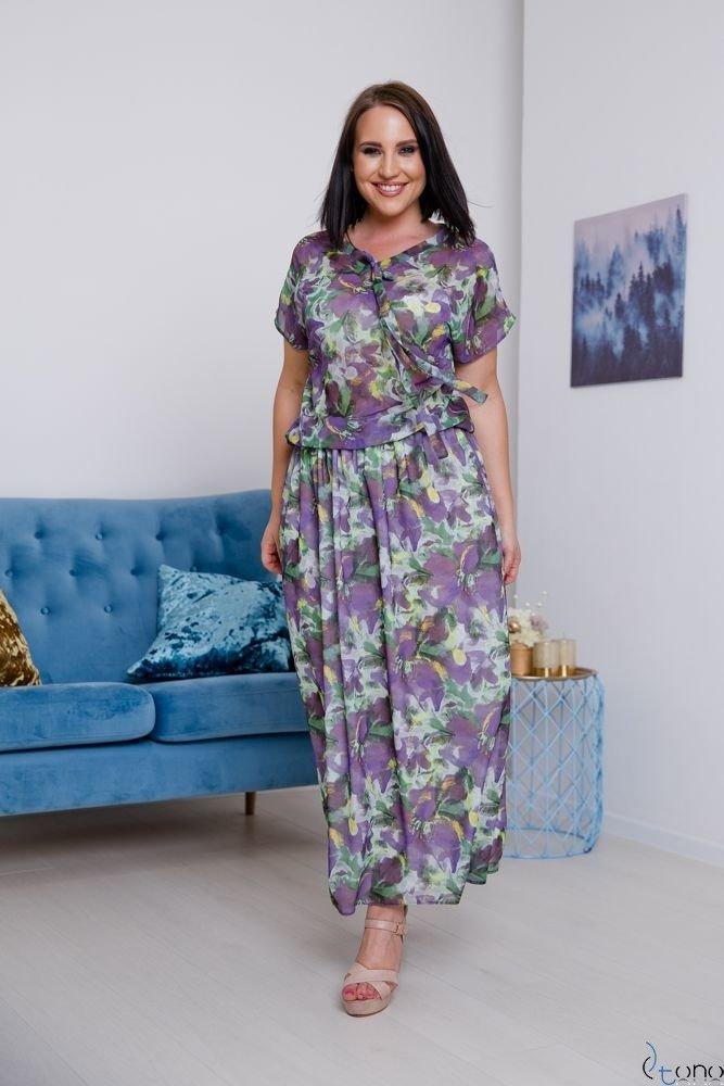 Fioletowa Sukienka VIOLINA Plus Size