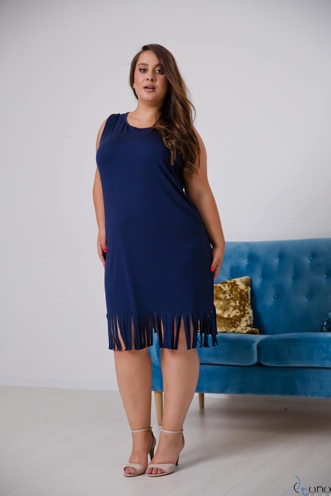 Granatowa Sukienka NAPPA Plus Size