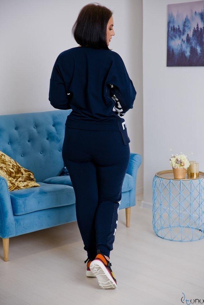 Granatowy Dres DEZIRE Plus Size
