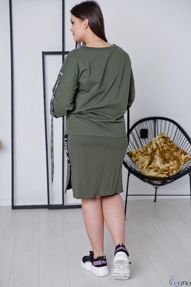 Khaki Komplet LIVER Plus Size