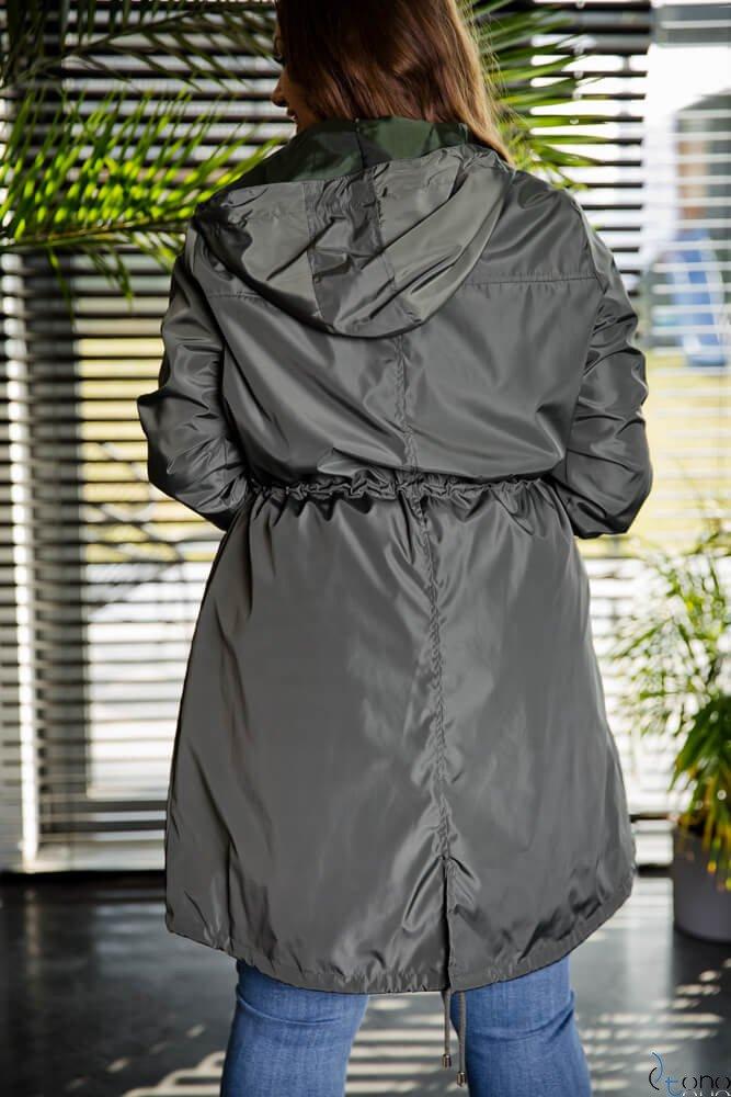 Kurtka BOLSINA Parka Plus Size Khaki