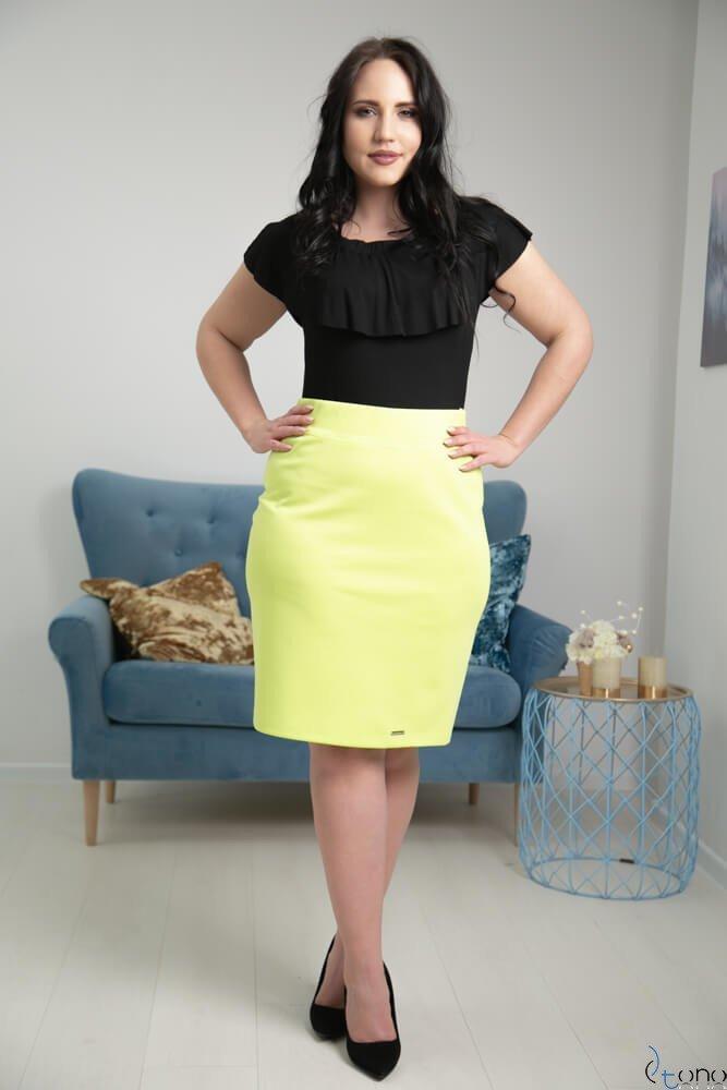 Limonkowa Spódnica PILAR Plus Size