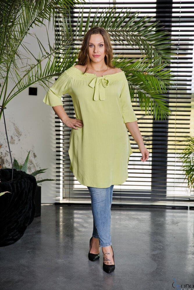 Limonkowa Tunika MANOLLA Plus Size