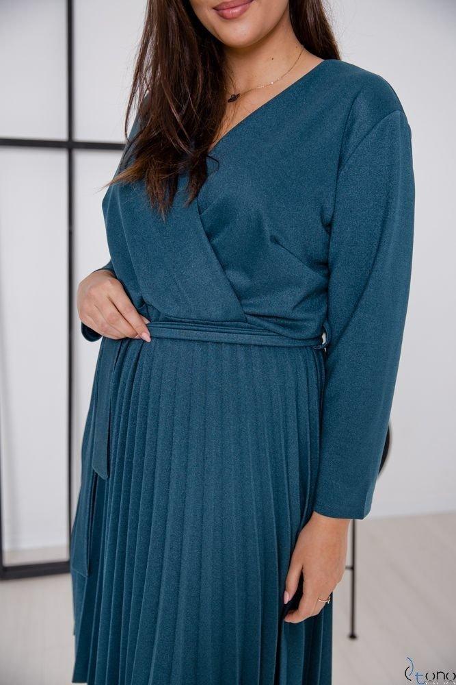 Morska Sukienka BRILLA Plus Size