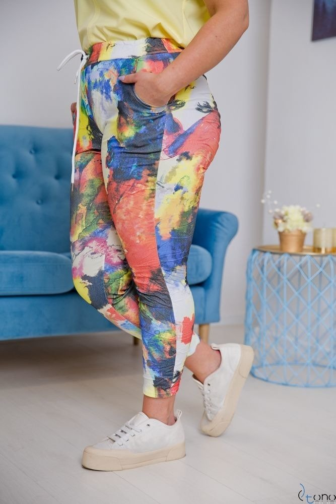Multikolorowe Spodnie MORRENA Plus Size