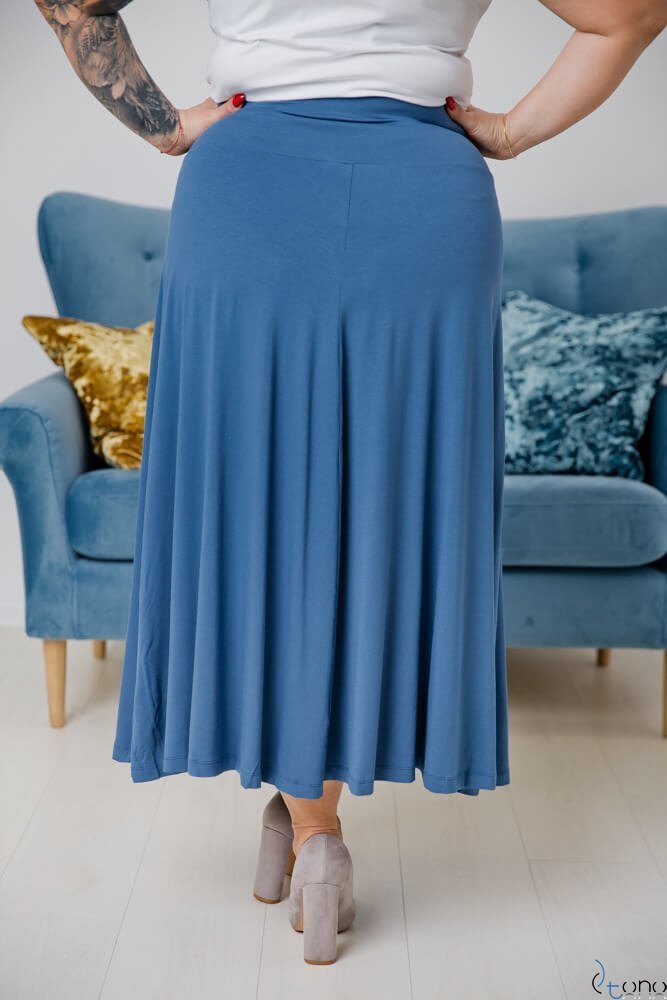 Niebieska Spódnica CELINA Plus Size