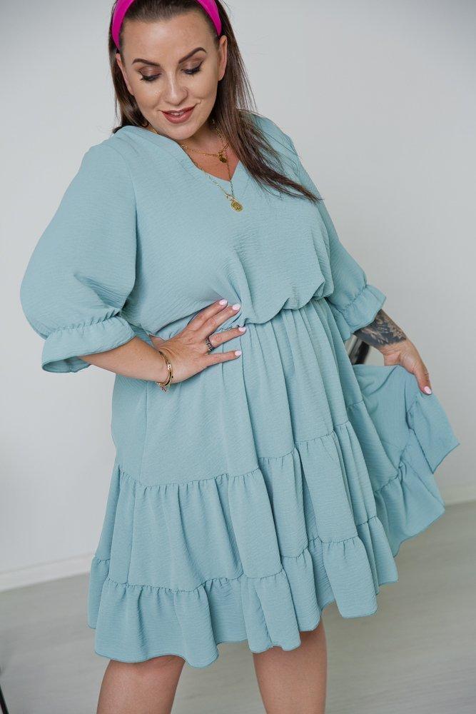 Niebieska Sukienka ROZETKA Plus Size