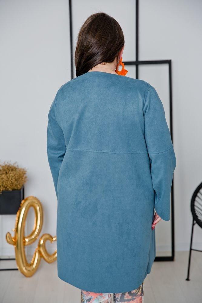 Niebieski Kardigan CARMELLO Plus Size