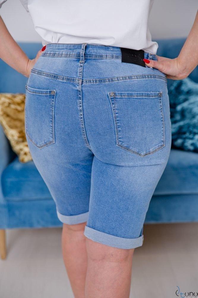 Niebieskie Spodnie TERRY Plus Size Shorty