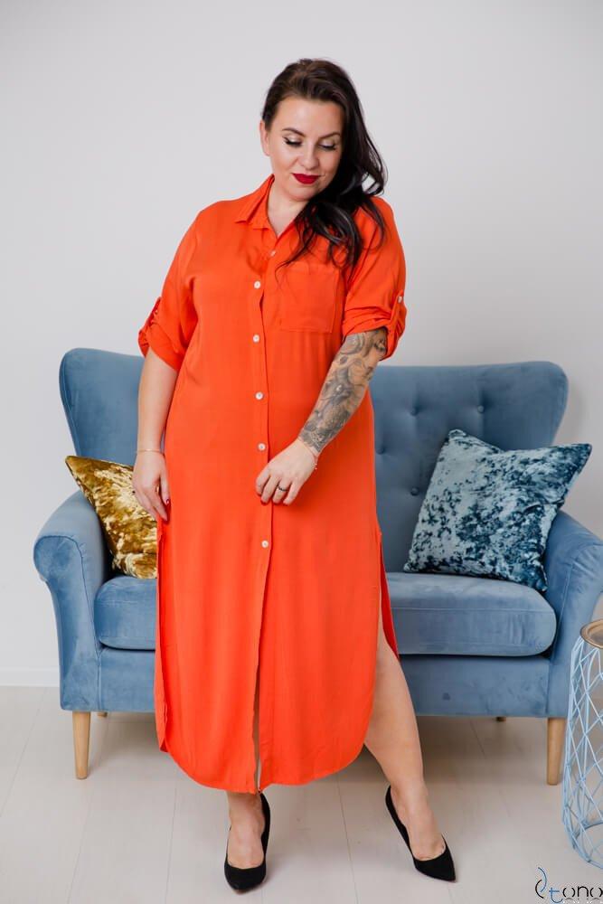 Pomarańczowa Sukienka SUCESIA Plus Size