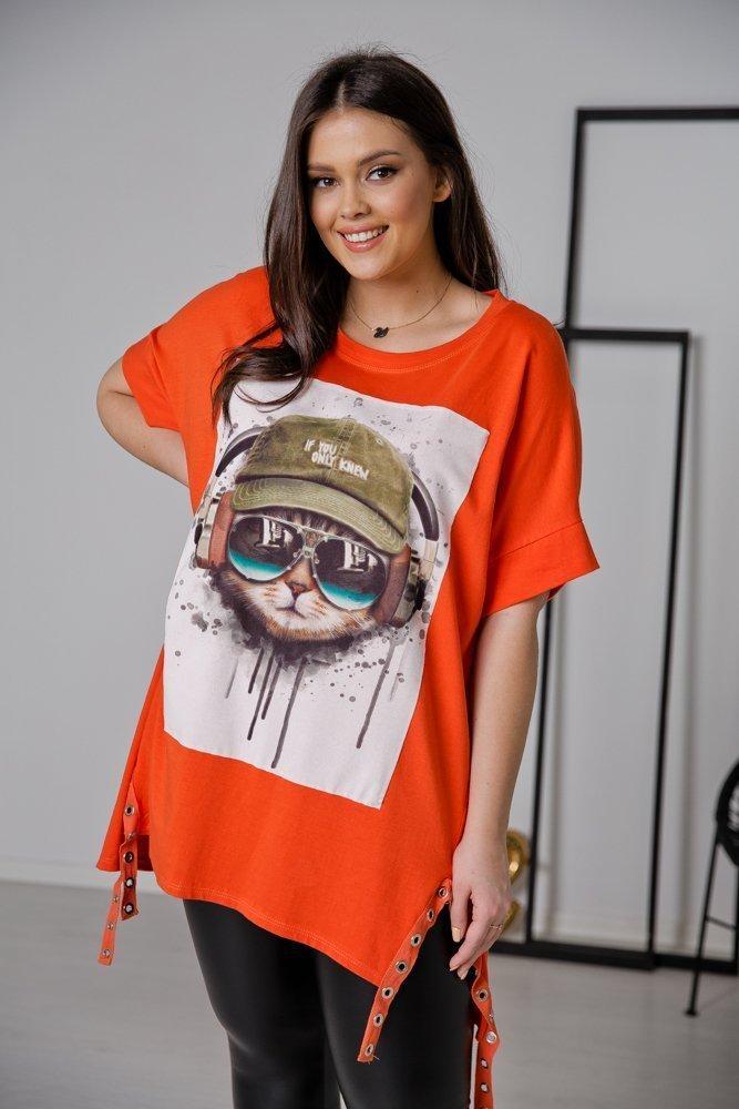 Pomarańczowa Tunika KITTY Plus Size
