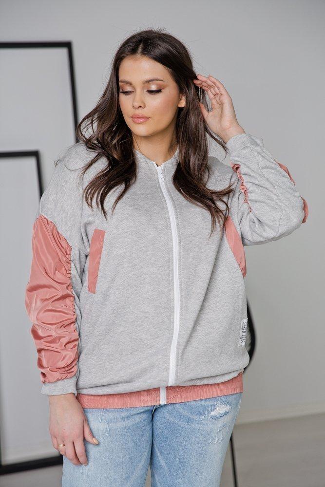 Różowa Bluza SPORTY Plus Size