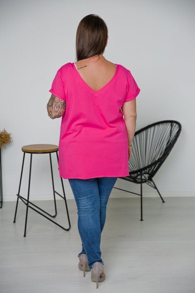 Różowa Bluzka ZENDA Plus Size