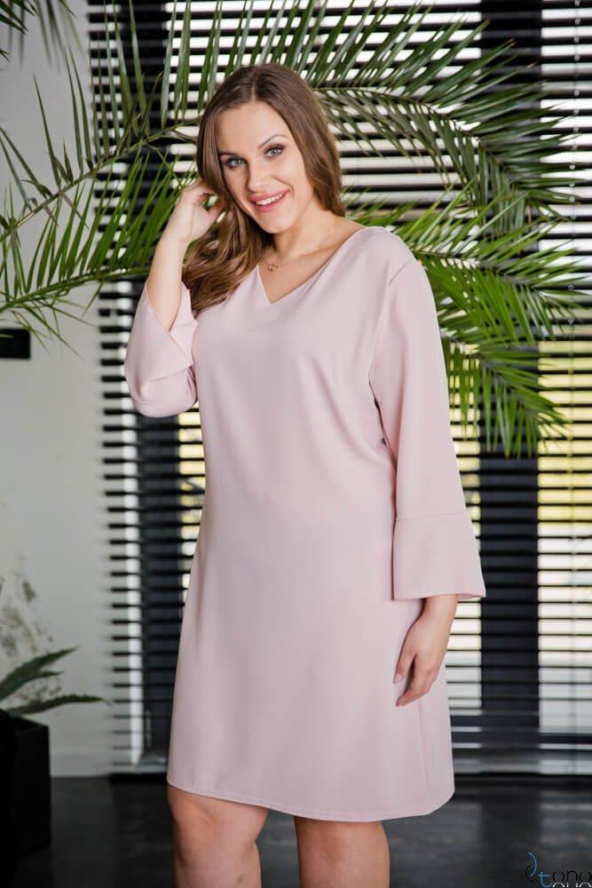 Różowa Sukienka CRUDELL Plus Size