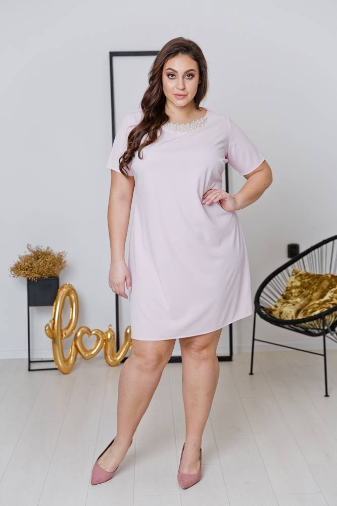 Różowa Sukienka LOLITA  Plus Size