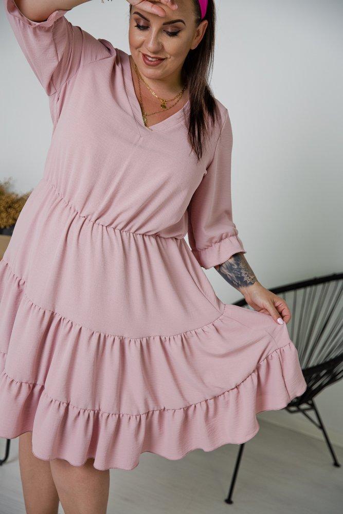 Różowa Sukienka ROZETKA Plus Size