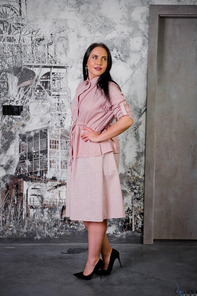 Różowa Sukienka SAVANA Plus Size