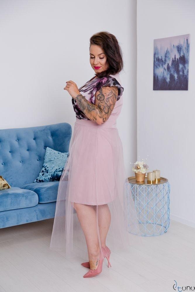 Różowa Sukienka VESTRINA Plus Size