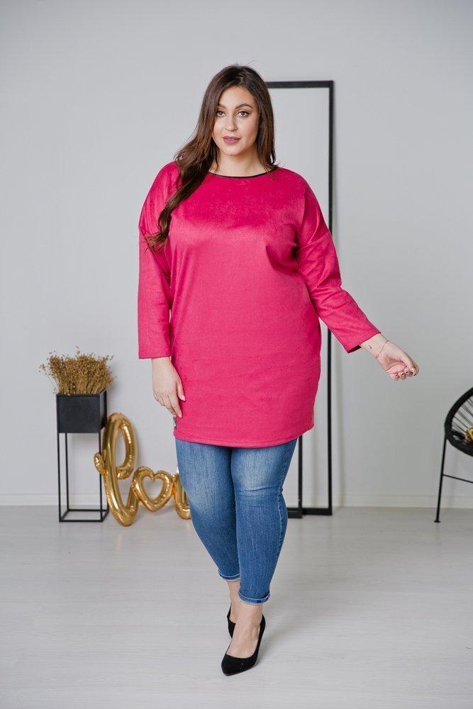 Różowa Tunika TAMENA Plus Size