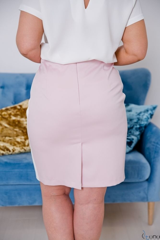 Różowo-Biała Spódnica DEBBY Plus Size