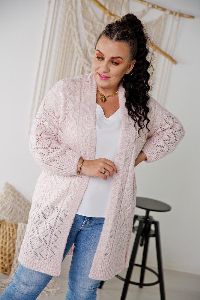 Różowy Sweter BAROKO Plus Size