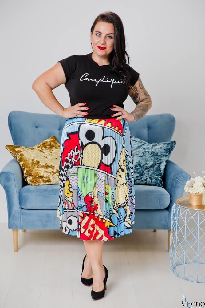 Spódnica ELMO Plus Size Wzór 1