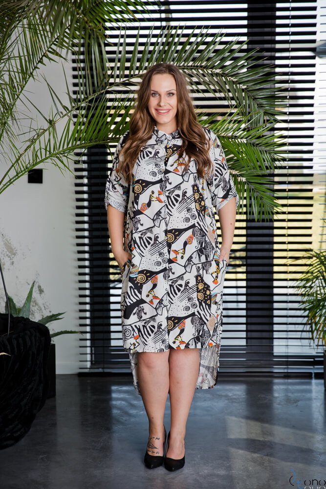 Sukienka AFRICA Plus Size Wzór 2