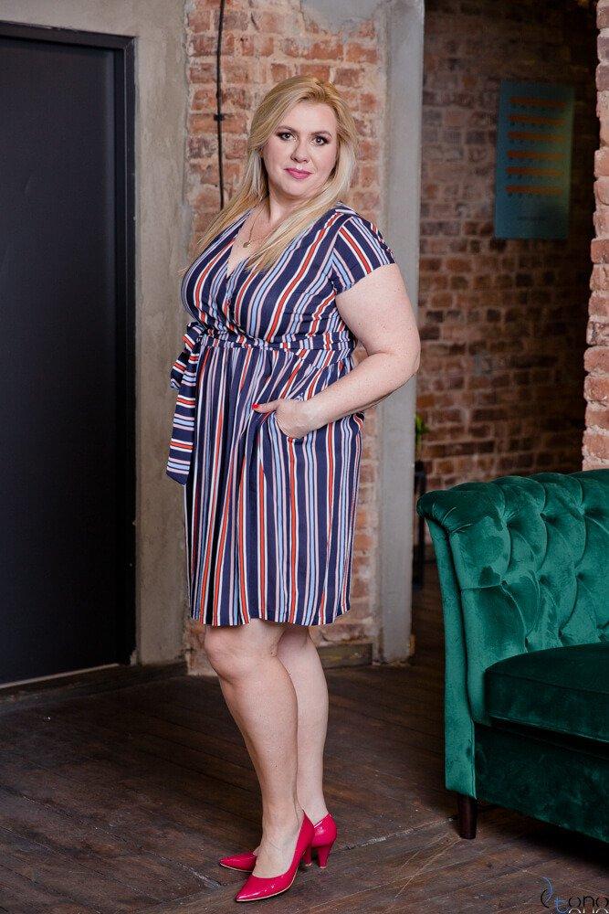 Sukienka AGOSTA Plus Szie Wzór 4