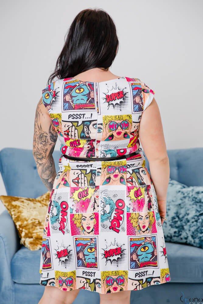 Sukienka BISCOTTO Plus Size Wzór 1